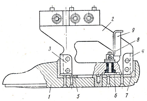 Схема съемной колодки для